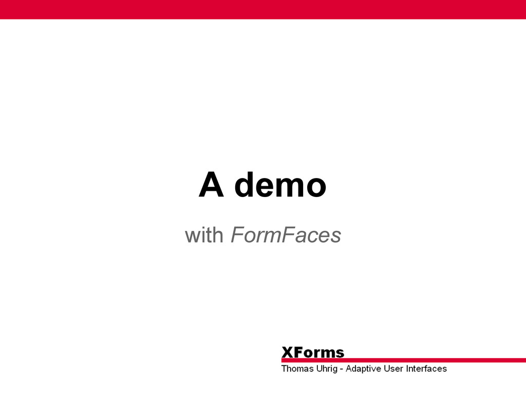 A demo with FormFaces