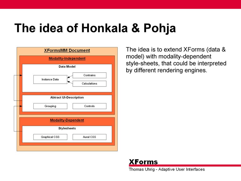 The idea of Honkala & Pohja The idea is to exte...