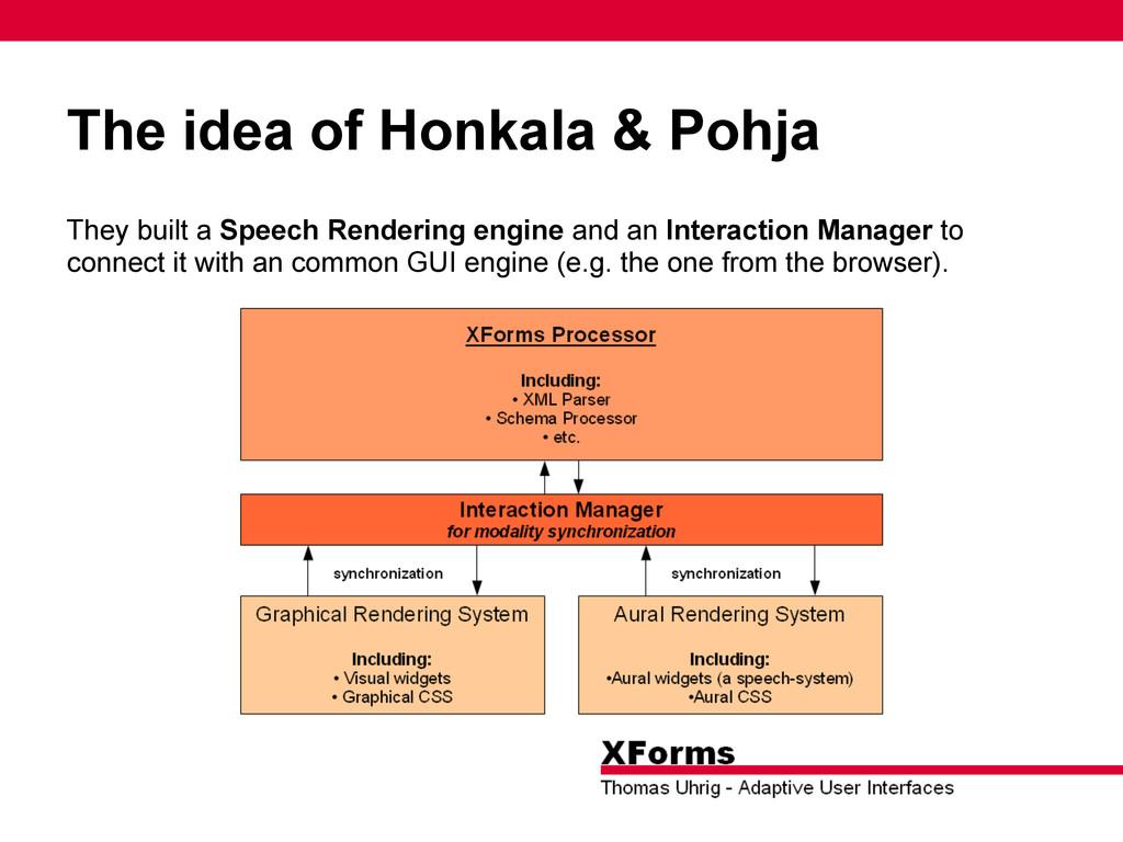 The idea of Honkala & Pohja They built a Speech...