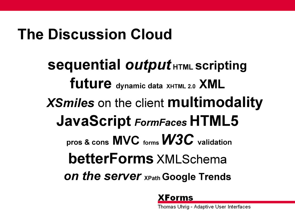 The Discussion Cloud sequential output HTML scr...