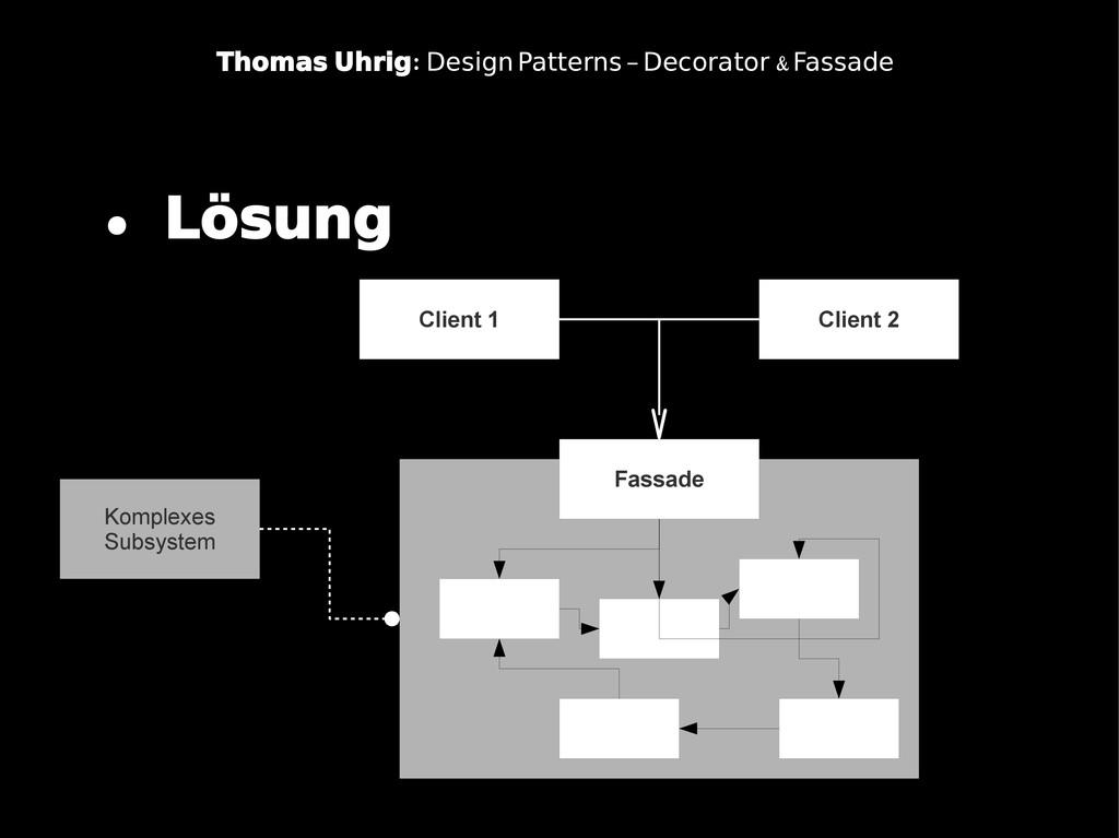 . Lösung Client 1 : Thomas Uhrig & Design Patte...