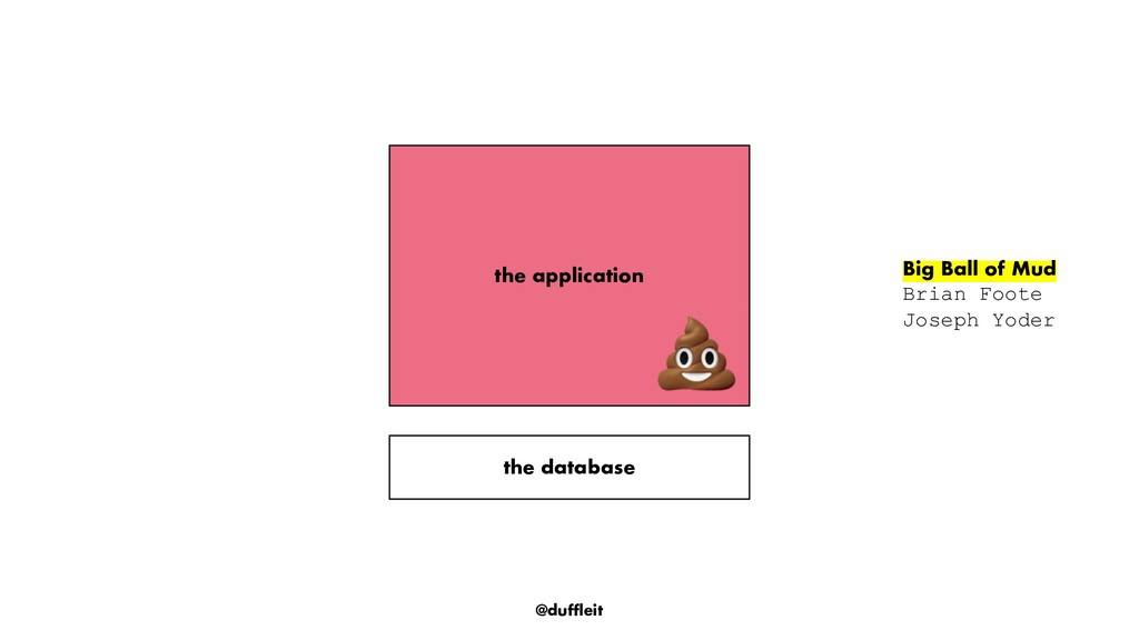 @duffleit the application the database Big Ball...