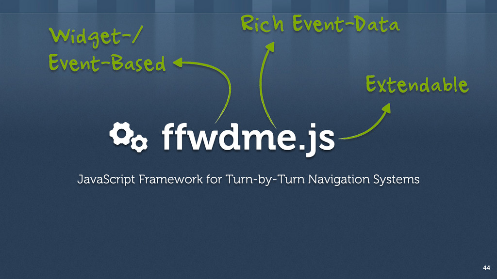 ffwdme.js 44 JavaScript Framework for Turn-by-T...