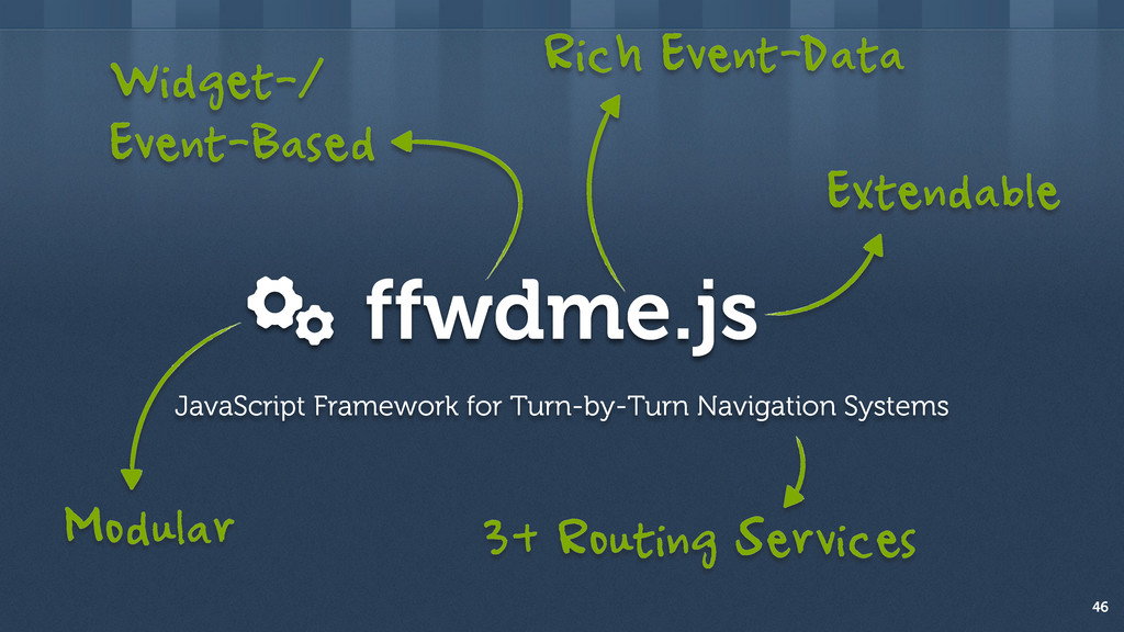 ffwdme.js 46 JavaScript Framework for Turn-by-T...