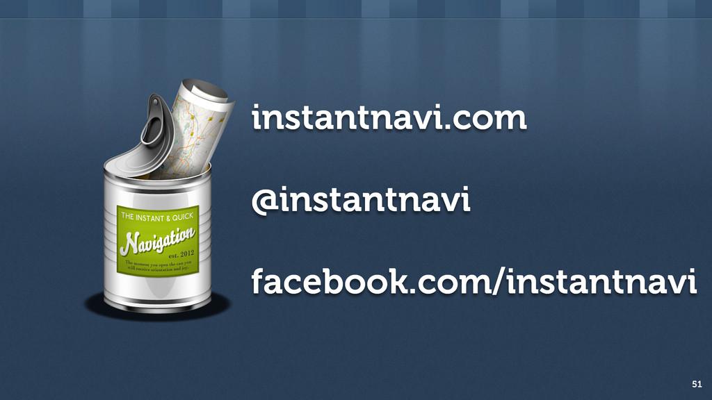 instantnavi.com @instantnavi facebook.com/insta...