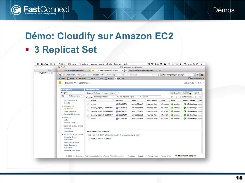 Démo: Cloudify sur Amazon EC2 § 3 Replicat Se...