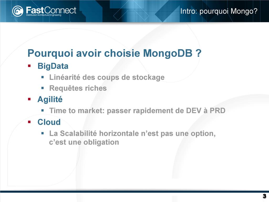 Pourquoi avoir choisie MongoDB ? § BigData §...
