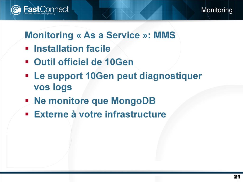 Monitoring « As a Service »: MMS § Installati...