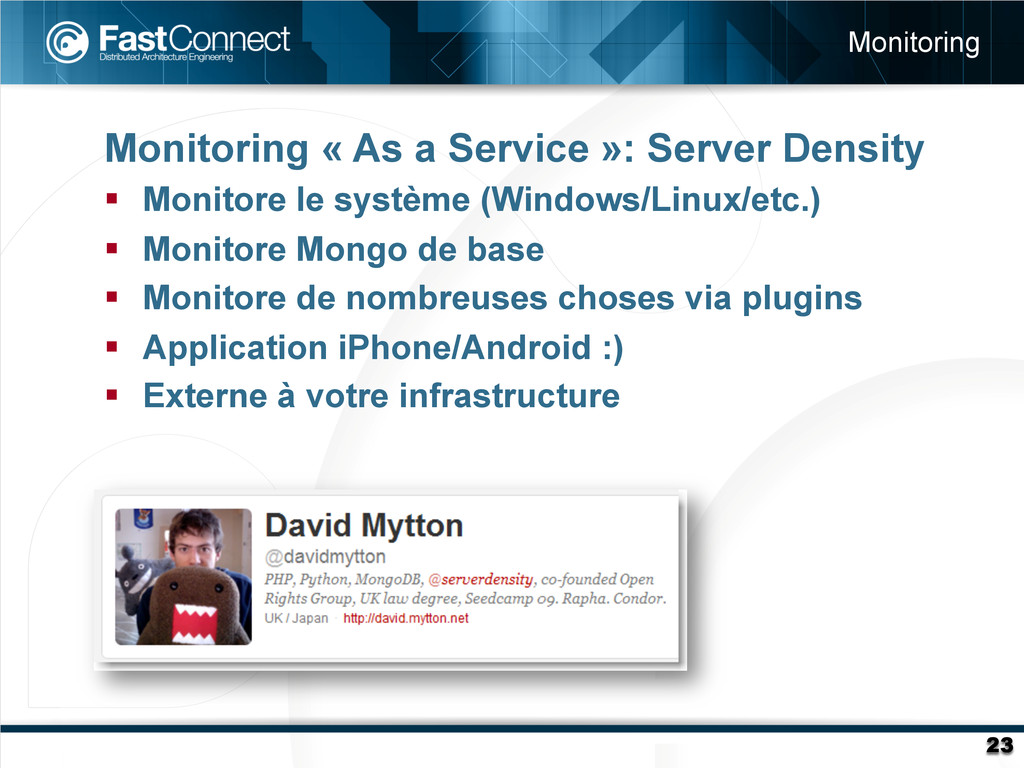 Monitoring « As a Service »: Server Density §...