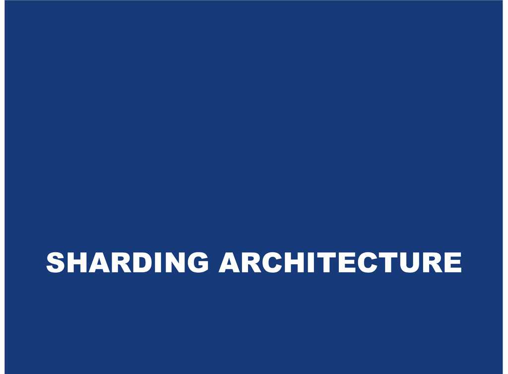 SHARDING ARCHITECTURE