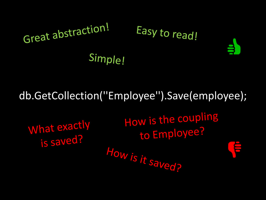 db.GetCollection(''Employee'').Save(employee);