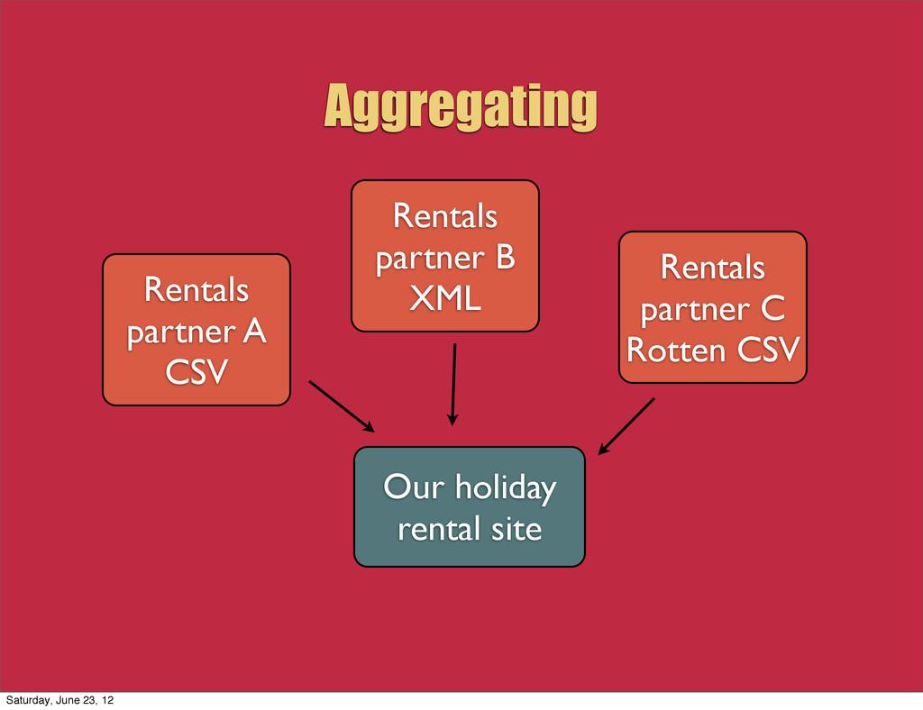 Aggregating Rentals partner A CSV Rentals partn...