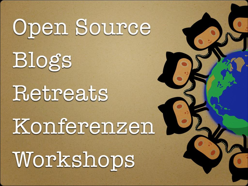 Open Source Blogs Retreats Konferenzen Workshops