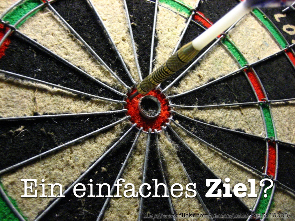 Ein einfaches Ziel? http://www.flickr.com/photo...
