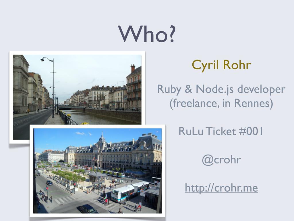 Ruby & Node.js developer (freelance, in Rennes)...