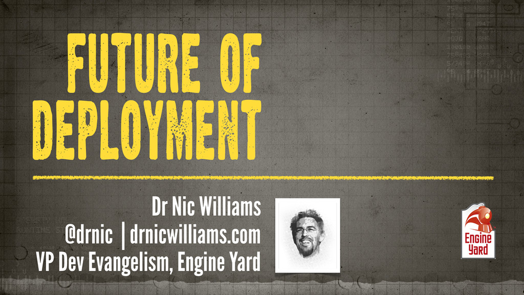 FUTURE OF DEPLOYMENT Dr Nic Williams @drnic | d...