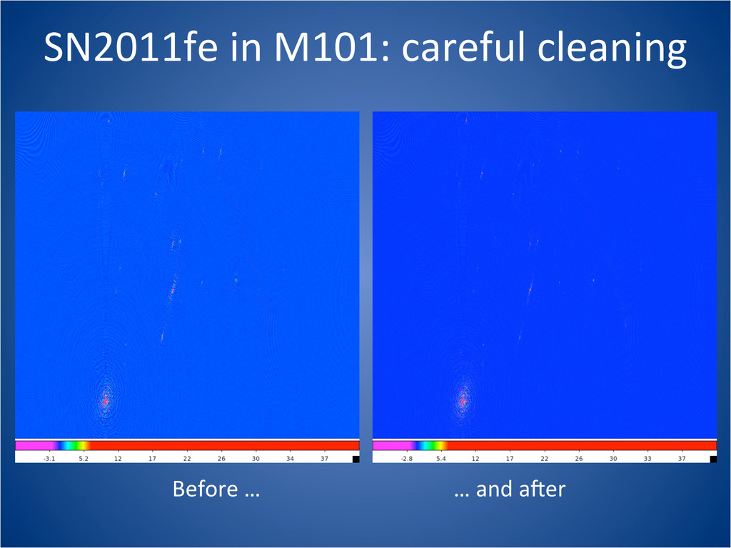SN2011fe in M101: careful cleaning ...