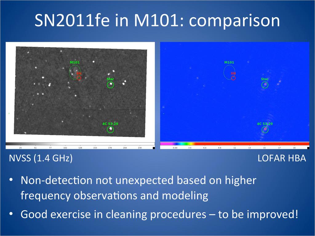 SN2011fe in M101: comparison LOFAR ...