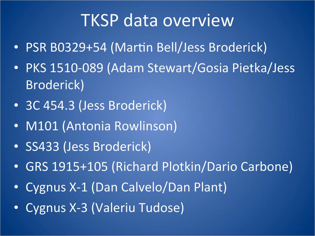 TKSP data overview • PSR B0329+54 (...