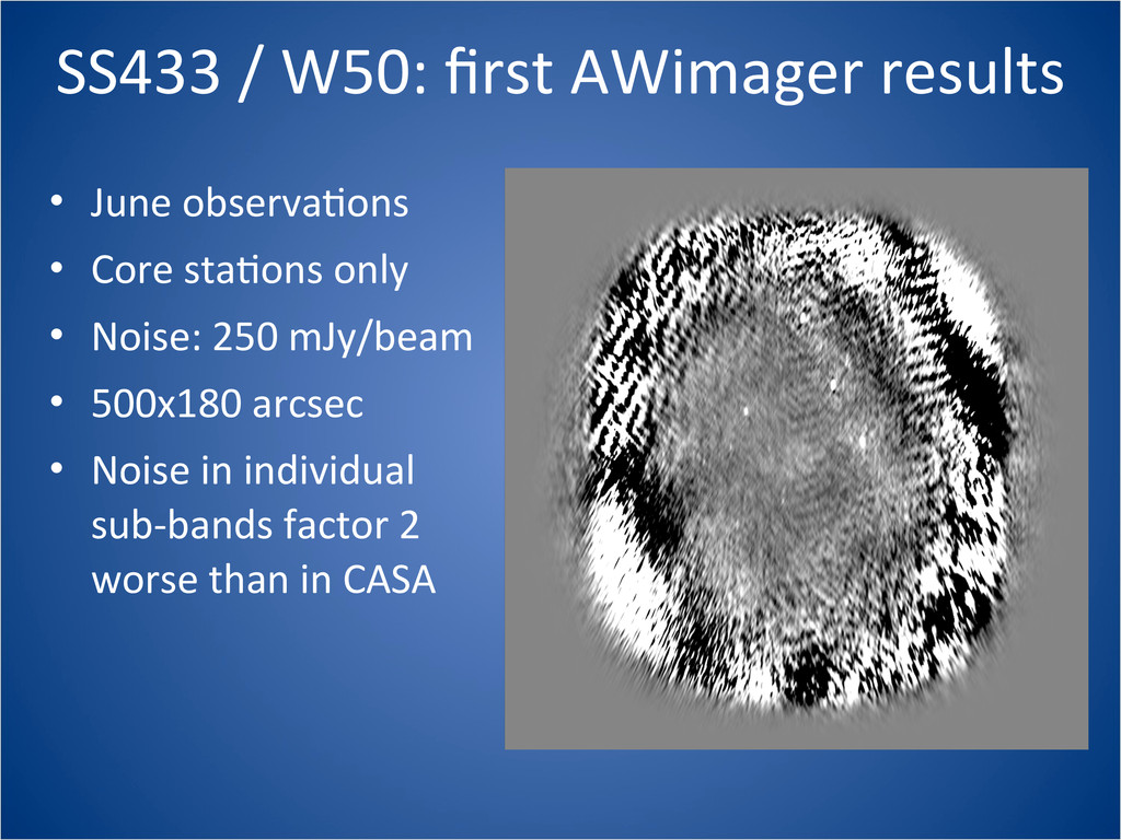 SS433 / W50: first AWimager resul...
