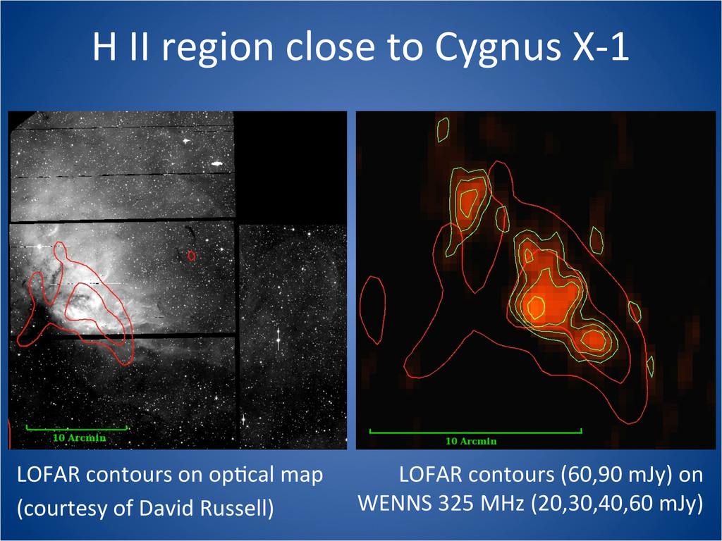 H II region close to Cygnus X...