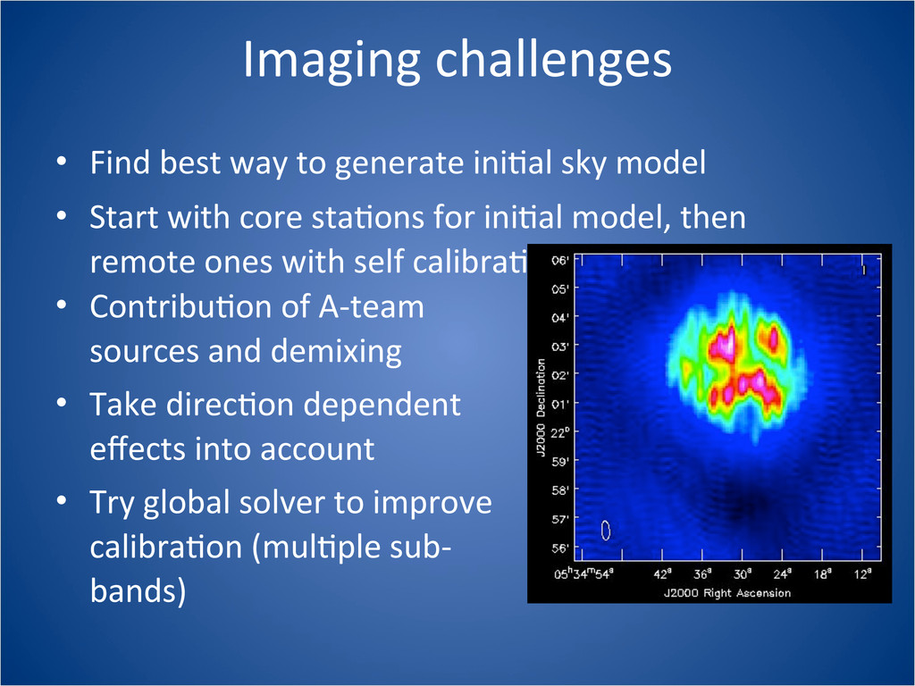Imaging challenges • Find best way ...