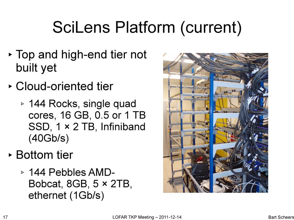 SciLens Platform (current) 17 LOFAR TKP Meeting...