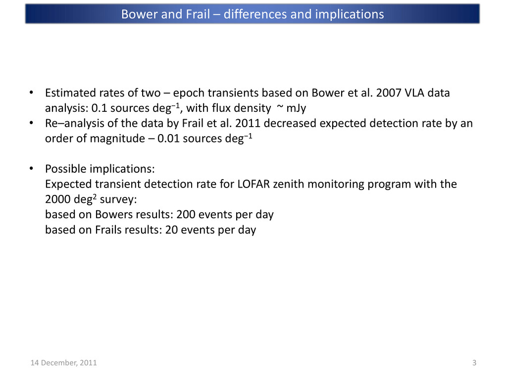 Bower and Frail – differences and implications ...