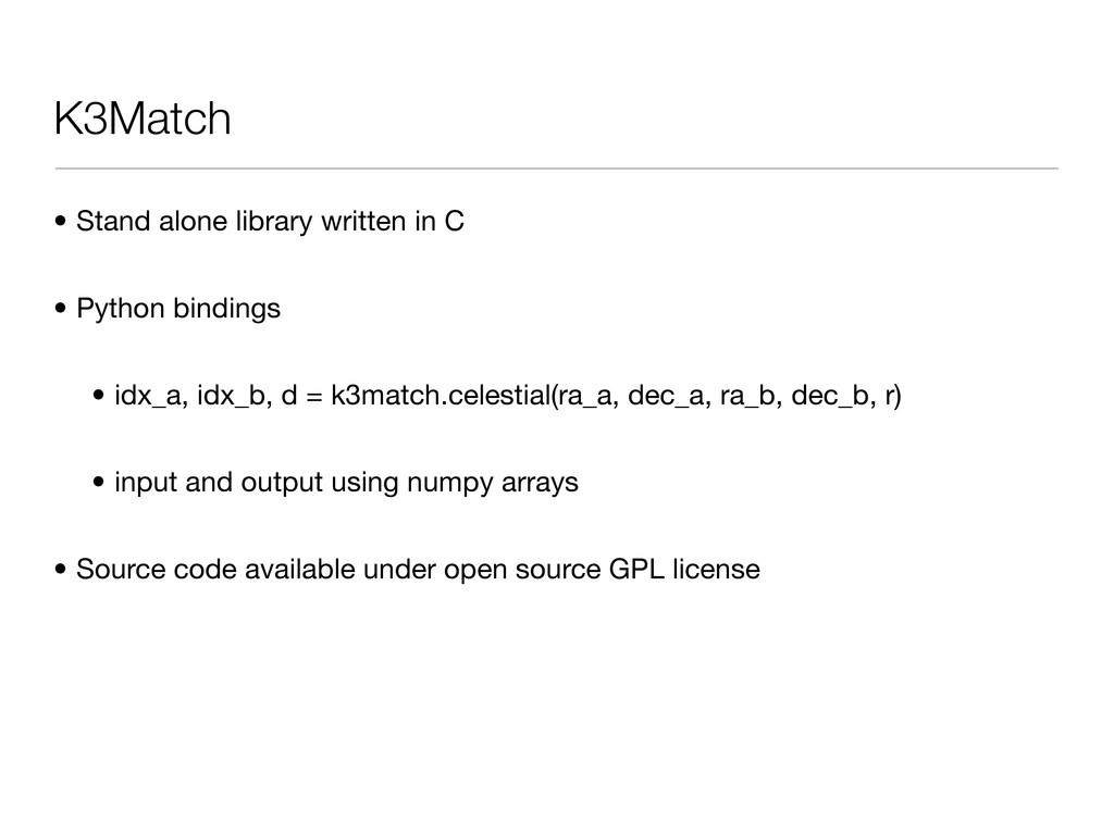 K3Match • Stand alone library written in C • Py...