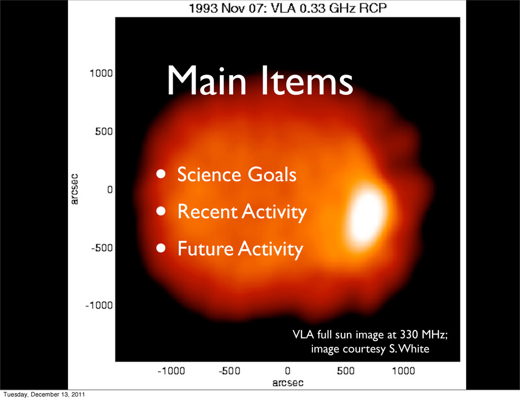 Main Items • Science Goals • Recent Activity • ...