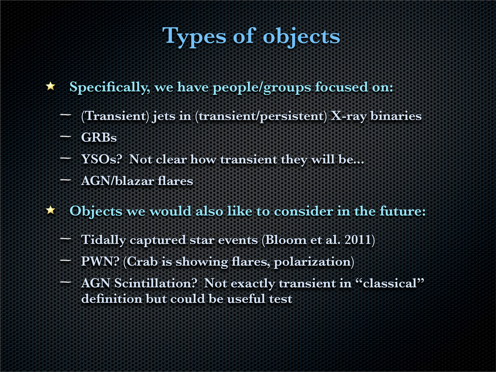 Types of objects Specifically, we have people/gr...