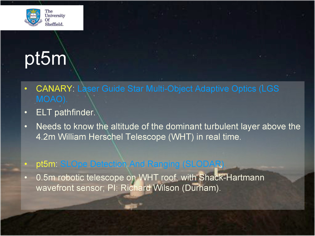 pt5m • CANARY: Laser Guide Star Multi-Object A...