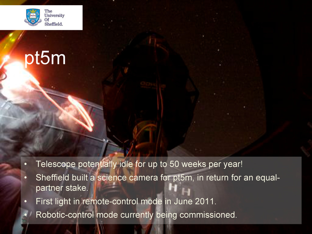 pt5m • Telescope potentially idle for up to 50...