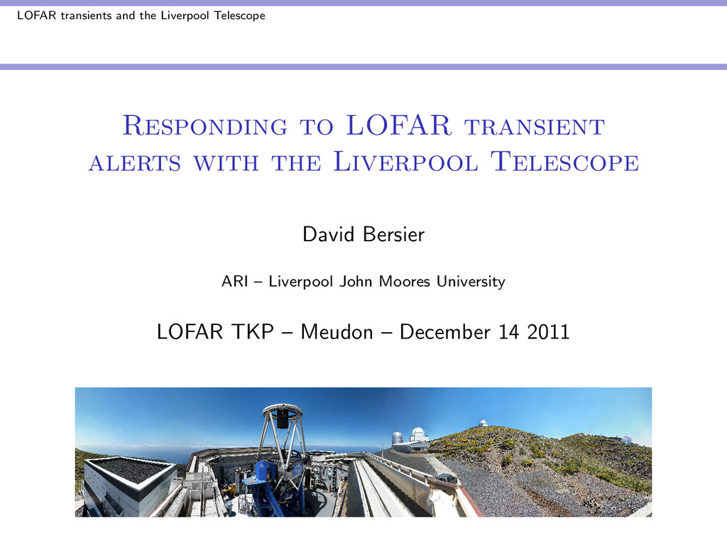 LOFAR transients and the Liverpool Telescope Re...