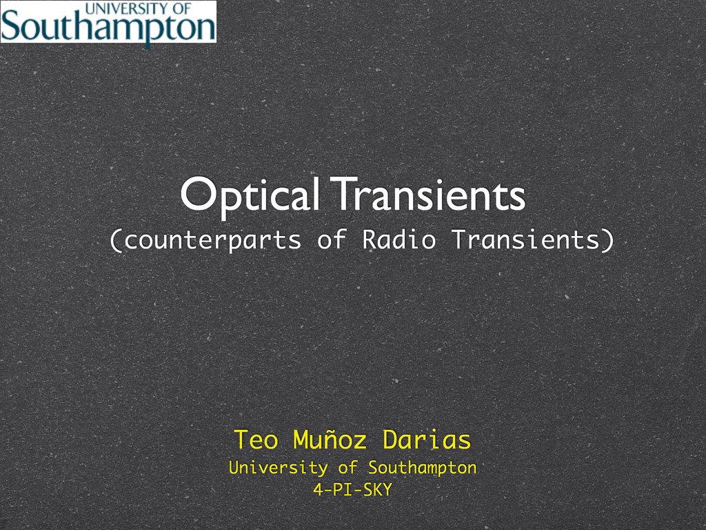 Optical Transients (counterparts of Radio Trans...
