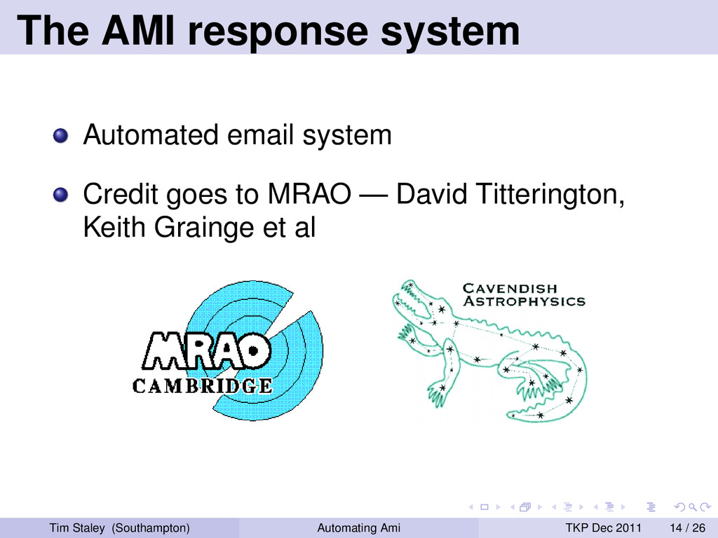 The AMI response system Automated email system ...