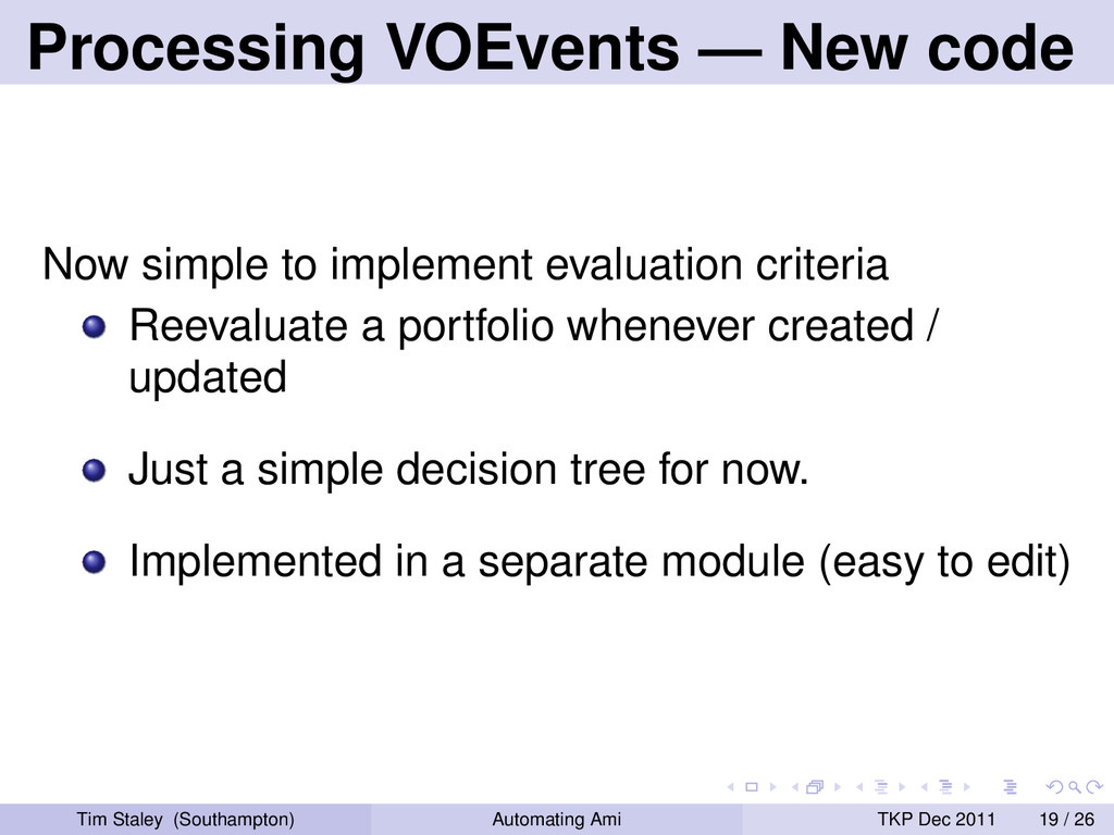 Processing VOEvents — New code Now simple to im...