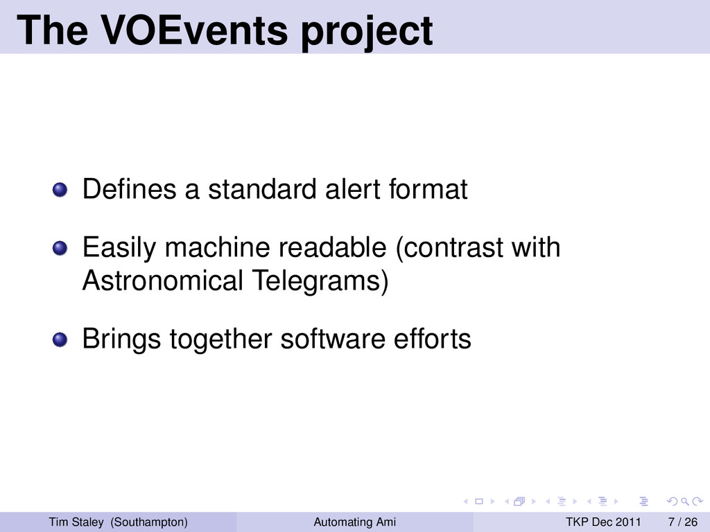 The VOEvents project Defines a standard alert fo...