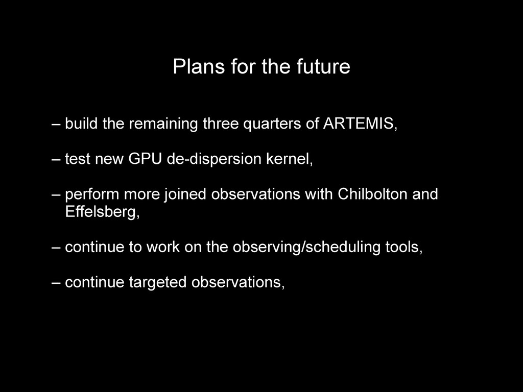 Plans for the future Plans for the future – – b...