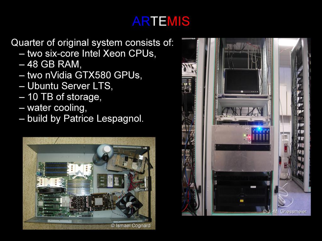 AR ARTE TEMIS MIS Quarter of original system co...