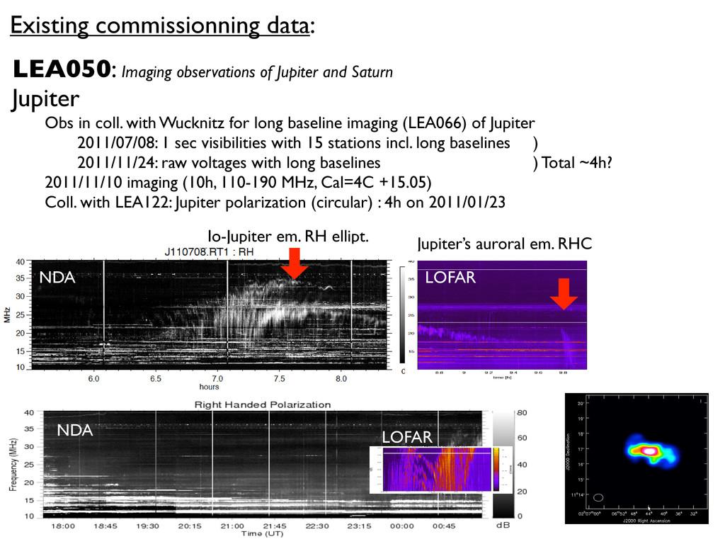 NDA Existing commissionning data: LEA050: Imagi...