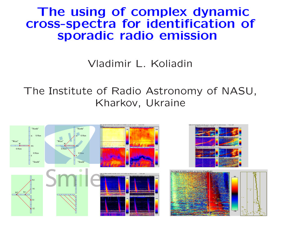 The using of complex dynamic cross-spectra for ...