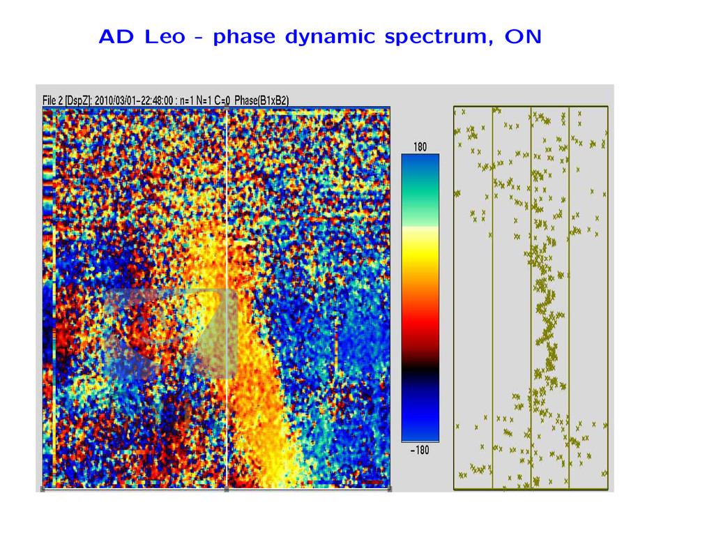 AD Leo - phase dynamic spectrum, ON