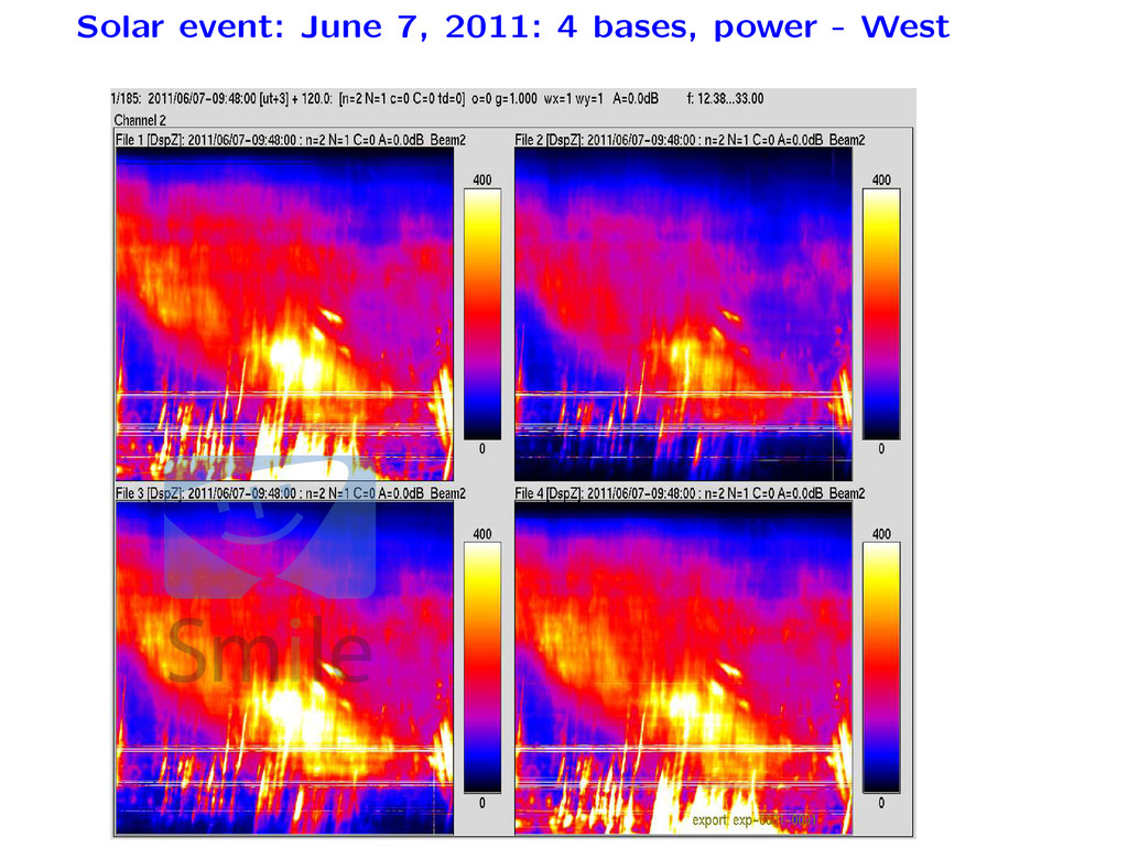 Solar event: June 7, 2011: 4 bases, power - Wes...
