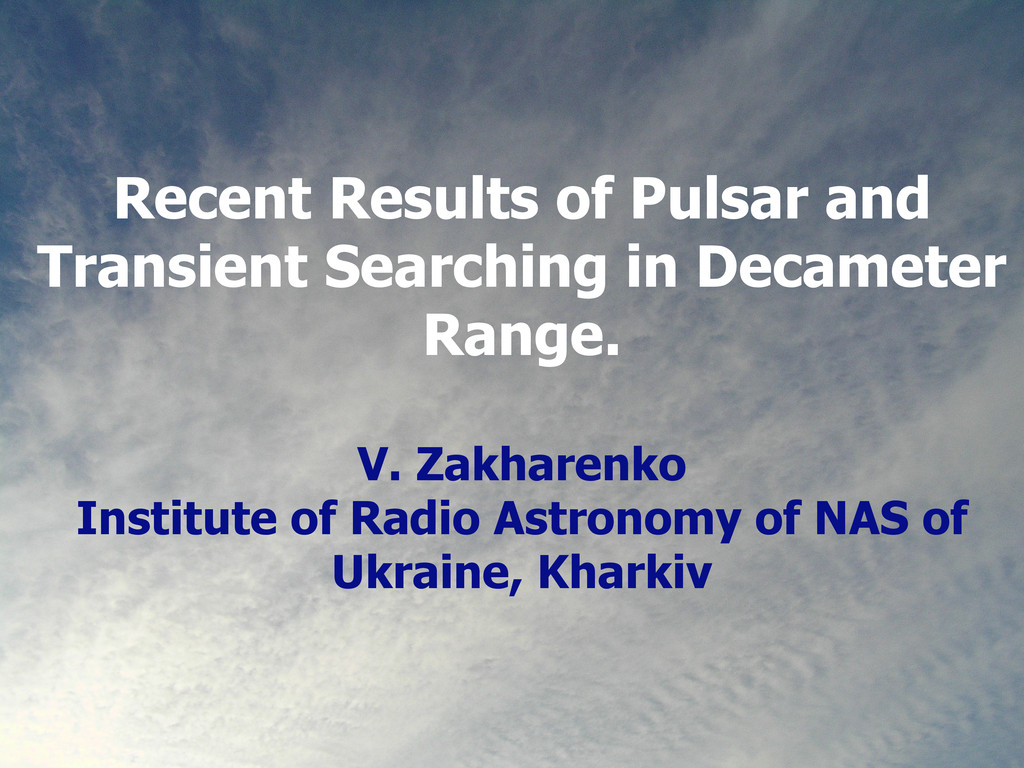 Recent Results of Pulsar and Transient Searchin...