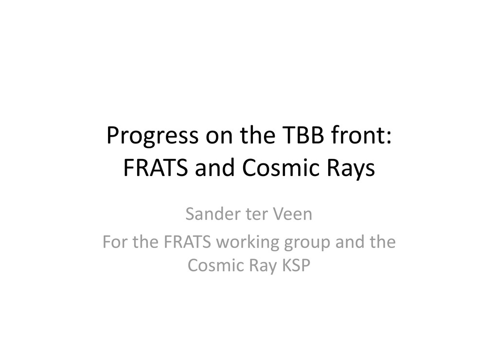 Progress