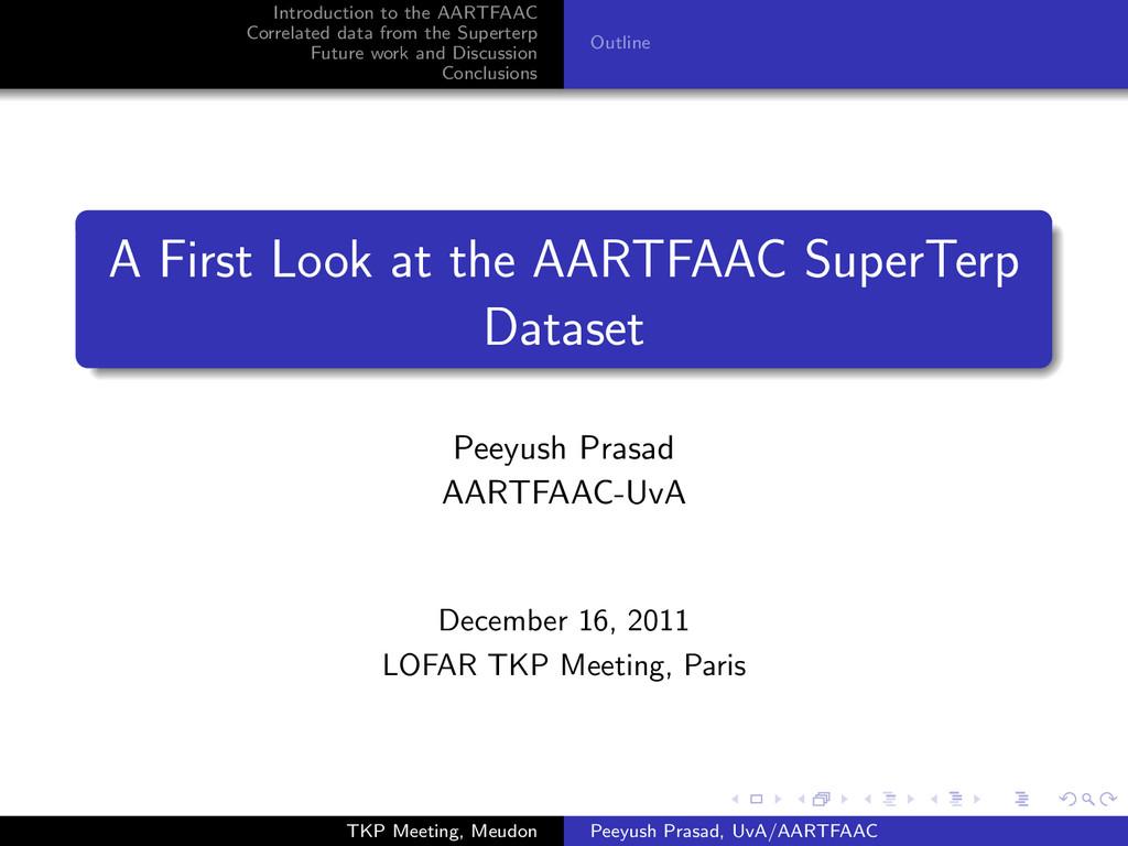 Introduction to the AARTFAAC Correlated data fr...