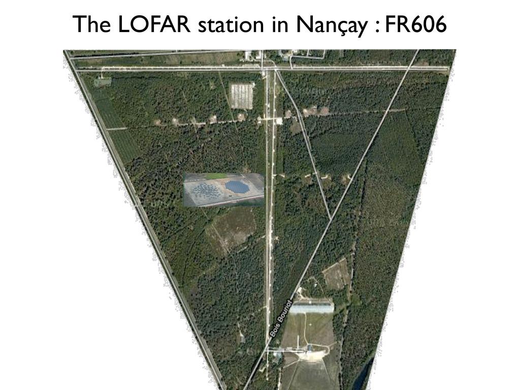 The LOFAR station in Nançay : FR606 Préparation...