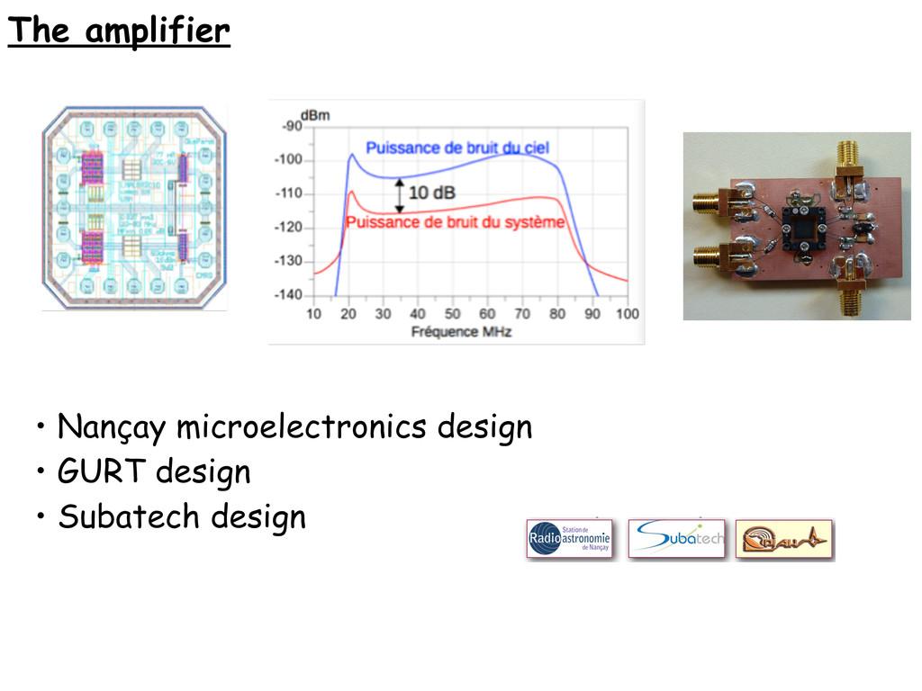 The amplifier • Nançay microelectronics design ...