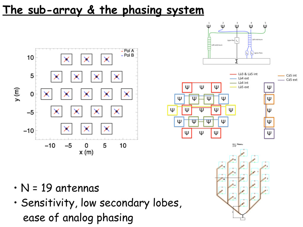 The sub-array & the phasing system • N = 19 ant...